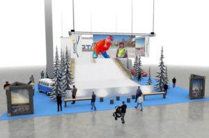 Go Expo Winterin tapahtuma-alueelle rakennetaan rinne.
