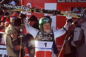 Ensimmäisen Levin maailmancupin vuonna 2004 voitti Tanja Poutiainen.