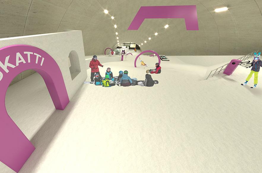 MAX Snow World soveltuu myös laskettelun ja lautailun opetukseen.