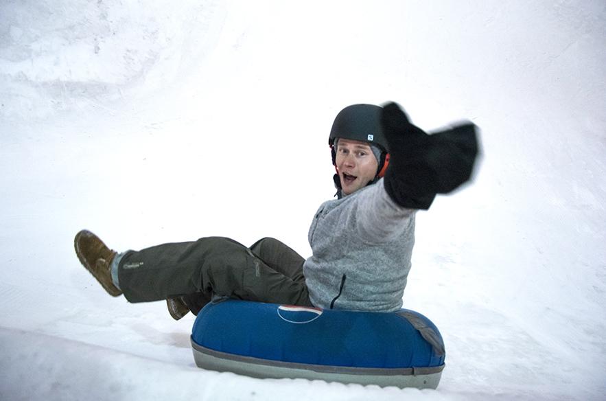 Talvella tubing valtaa MAX Snow World -lumimaailman.
