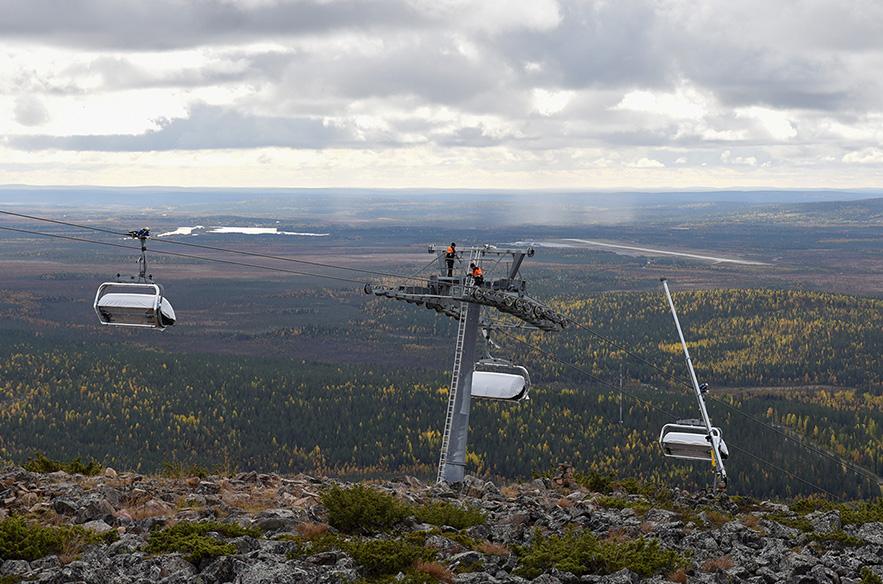 Levi West -hissi valmistuu talveksi 2019–2020. Kuva: Timo Koivisto