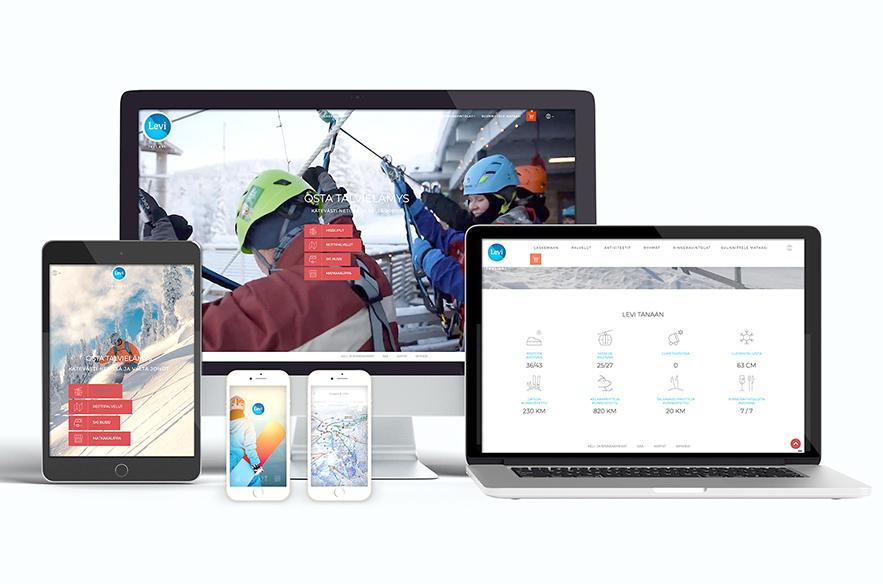 Levi.Ski-digikokonaisuus on kehitetty helpottamaan ja monipuolistamaan laskettelureissua