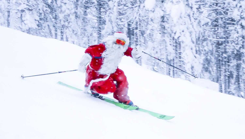 Joulun salaisuus paljastuu: Joulupukin rautainen kunto on peräisin rinteestä.
