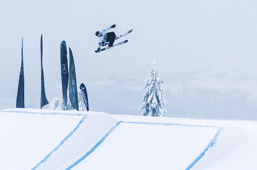 Juuri ennen hiihtolomaa Iso-Syöttellä kisattiin Freestyle Ski Tour. Huipputason suorituspaikat ovat myös hiihtolomalaisten käytettävissä. Iso-Syötteellä on mainiot mahdollisuudet myös opetella parkkilaskemisen alkeita, sillä eri kokoisia hyppyreitä tunturissa on runsaasti. Kuva: Henry Haataja