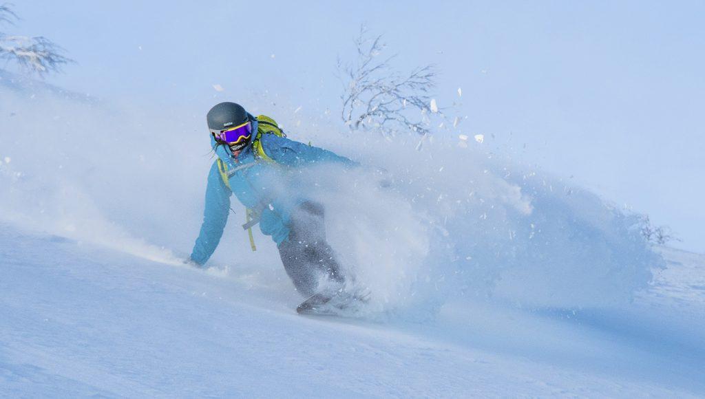 Splitboard on vapaalaskuun tarkoitettu lumilauta, joka halkaistaan nousun ajaksi suksiksi.