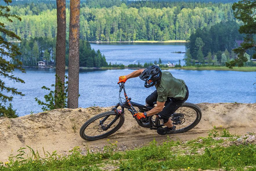 Saimaa Bike Park on ilo laskea ja katsoa.
