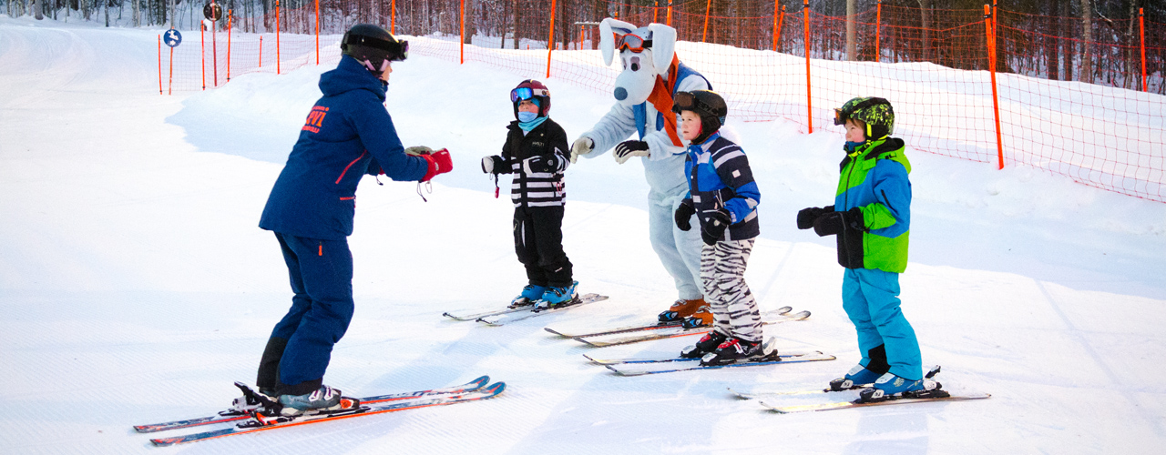 Werneri ski school for kids at Levi