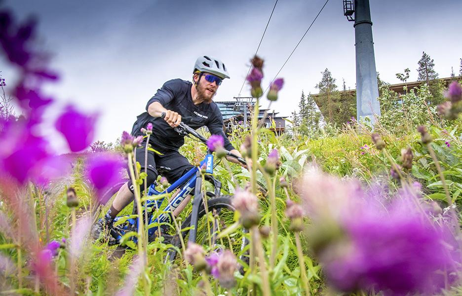 Merkkipäivää viettää: Levi Bike Park 15 vuotta. Juhlan kunniaksi kesällä 2021 tarjolla on hienoja reittejä ja monipuolisia tapahtumia.