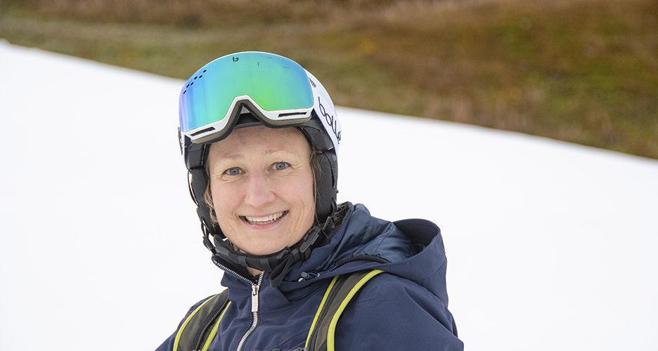 Tanja Poutiainen-Rinne ja kauden avauslasku Levillä 8.10.2021.
