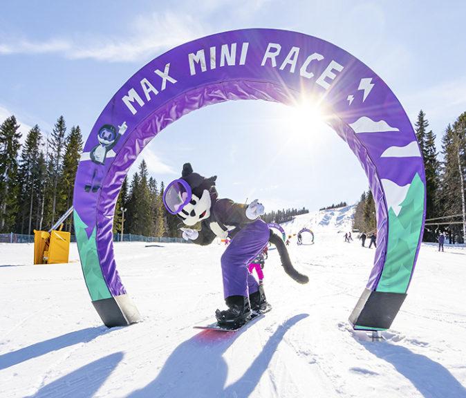 Maxin Lumimaailma on innostava laskettelualue lapsille. Kuva: Antti Harju